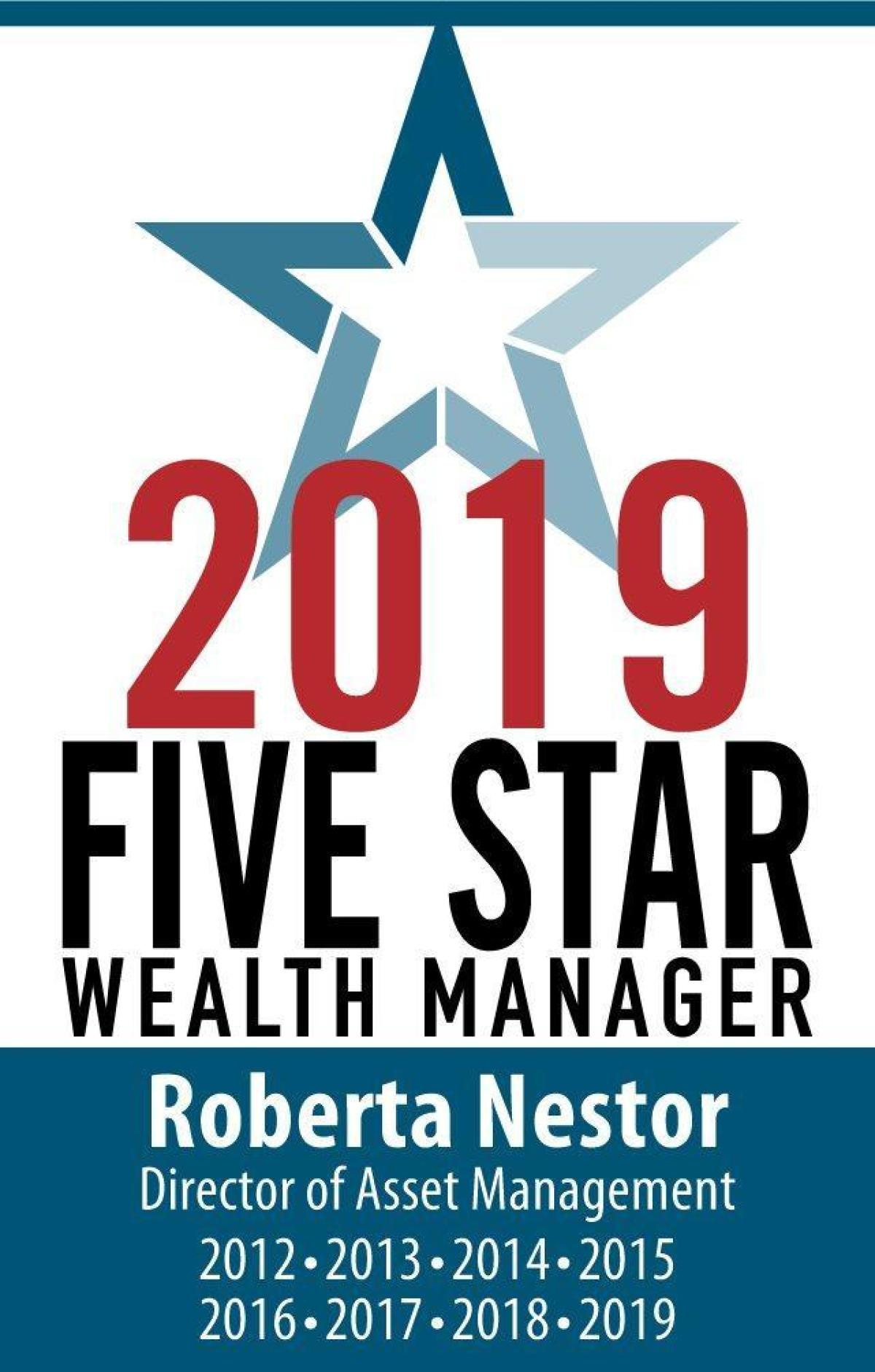 Five Star Wealth Manager 2019 Tall Logo